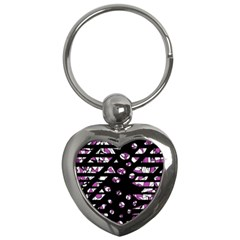 Magenta Freedom Key Chains (heart)  by Valentinaart