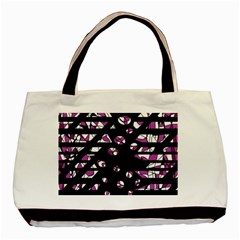 Magenta Freedom Basic Tote Bag (two Sides) by Valentinaart