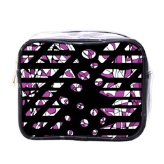 Magenta Freedom Mini Toiletries Bags by Valentinaart