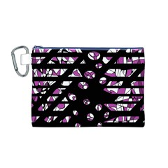 Magenta Freedom Canvas Cosmetic Bag (m) by Valentinaart