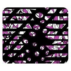 Magenta Freedom Double Sided Flano Blanket (small)  by Valentinaart