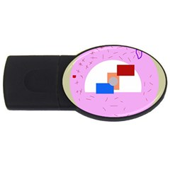 Decorative Abstract Circle Usb Flash Drive Oval (2 Gb)  by Valentinaart