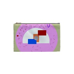 Decorative Abstract Circle Cosmetic Bag (small)  by Valentinaart