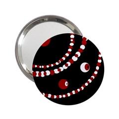 Red Pearls 2 25  Handbag Mirrors by Valentinaart