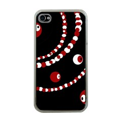 Red Pearls Apple Iphone 4 Case (clear) by Valentinaart