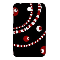 Red Pearls Samsung Galaxy Tab 3 (7 ) P3200 Hardshell Case  by Valentinaart