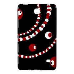 Red Pearls Samsung Galaxy Tab 4 (8 ) Hardshell Case  by Valentinaart
