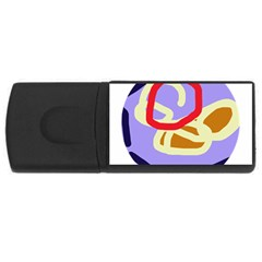 Abstract Circle Usb Flash Drive Rectangular (4 Gb)  by Valentinaart