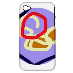 Abstract Circle Apple Iphone 4/4s Hardshell Case (pc+silicone) by Valentinaart