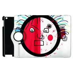Angry Transparent Face Apple Ipad 3/4 Flip 360 Case by Valentinaart