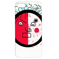 Angry Transparent Face Apple Iphone 5 Hardshell Case With Stand by Valentinaart