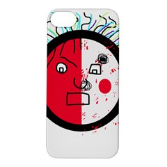 Angry transparent face Apple iPhone 5S/ SE Hardshell Case by Valentinaart