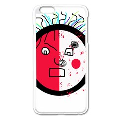 Angry Transparent Face Apple Iphone 6 Plus/6s Plus Enamel White Case by Valentinaart