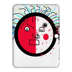 Angry Transparent Face Samsung Galaxy Tab 4 (10 1 ) Hardshell Case  by Valentinaart