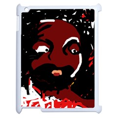Abstract Face  Apple Ipad 2 Case (white) by Valentinaart