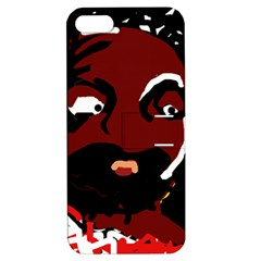 Abstract Face  Apple Iphone 5 Hardshell Case With Stand by Valentinaart