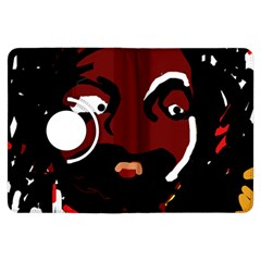 Abstract face  Kindle Fire HDX Flip 360 Case by Valentinaart