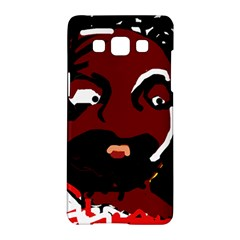 Abstract Face  Samsung Galaxy A5 Hardshell Case  by Valentinaart