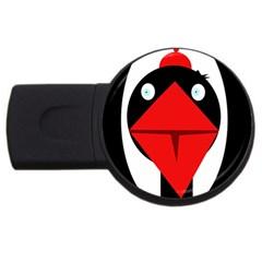 Duck Usb Flash Drive Round (4 Gb)  by Valentinaart