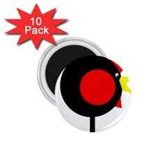 Fat chicken 1.75  Magnets (10 pack)  by Valentinaart