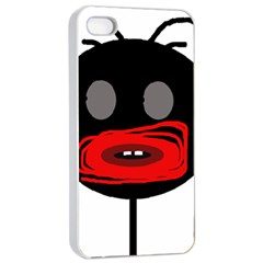 Face Apple Iphone 4/4s Seamless Case (white) by Valentinaart