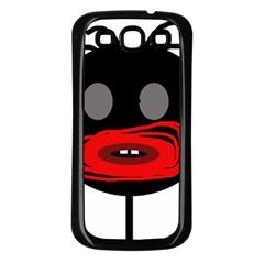 Face Samsung Galaxy S3 Back Case (black) by Valentinaart