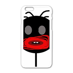 Face Apple Iphone 6/6s White Enamel Case by Valentinaart