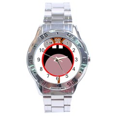 Funny Face Stainless Steel Analogue Watch by Valentinaart