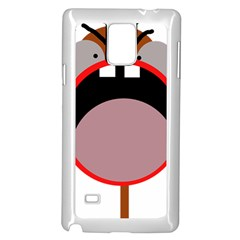 Funny face Samsung Galaxy Note 4 Case (White) by Valentinaart