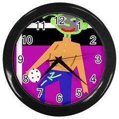 Goalkeeper Wall Clocks (black) by Valentinaart