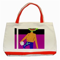 Goalkeeper Classic Tote Bag (red) by Valentinaart