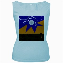 Decorative Abstraction Women s Baby Blue Tank Top by Valentinaart