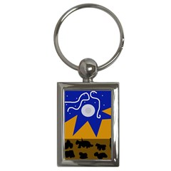Decorative Abstraction Key Chains (rectangle)  by Valentinaart