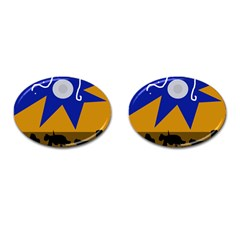 Decorative Abstraction Cufflinks (oval) by Valentinaart