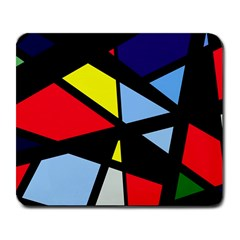 Colorful Geomeric Desing Large Mousepads by Valentinaart