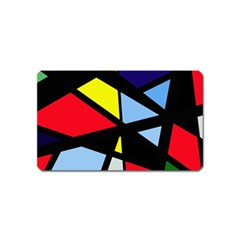 Colorful geomeric desing Magnet (Name Card) by Valentinaart