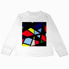Colorful Geomeric Desing Kids Long Sleeve T Shirts by Valentinaart