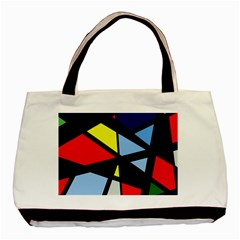 Colorful Geomeric Desing Basic Tote Bag by Valentinaart
