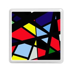 Colorful Geomeric Desing Memory Card Reader (square)  by Valentinaart