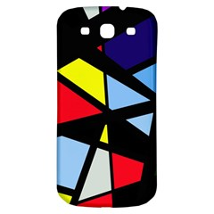 Colorful Geomeric Desing Samsung Galaxy S3 S Iii Classic Hardshell Back Case by Valentinaart
