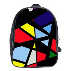 Colorful Geomeric Desing School Bags (xl)  by Valentinaart