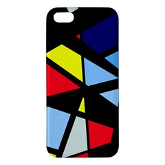 Colorful Geomeric Desing Apple Iphone 5 Premium Hardshell Case by Valentinaart