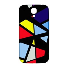 Colorful Geomeric Desing Samsung Galaxy S4 I9500/i9505  Hardshell Back Case by Valentinaart