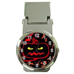 Halloween Pumpkin Money Clip Watches by Valentinaart