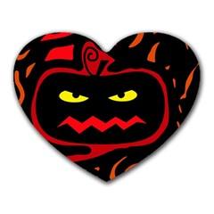 Halloween Pumpkin Heart Mousepads by Valentinaart