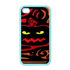 Halloween Pumpkin Apple Iphone 4 Case (color) by Valentinaart