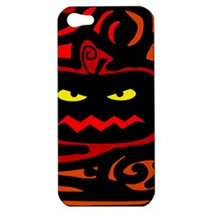 Halloween Pumpkin Apple Iphone 5 Hardshell Case by Valentinaart