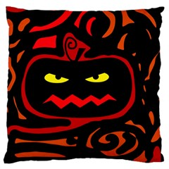 Halloween Pumpkin Large Flano Cushion Case (two Sides) by Valentinaart