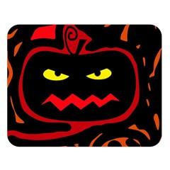 Halloween Pumpkin Double Sided Flano Blanket (large)  by Valentinaart