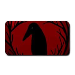 Halloween Raven   Red Medium Bar Mats by Valentinaart